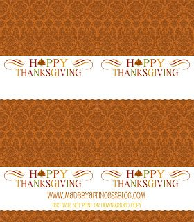 Freebie Friday: Thanksgiving Placecards or Food Tent