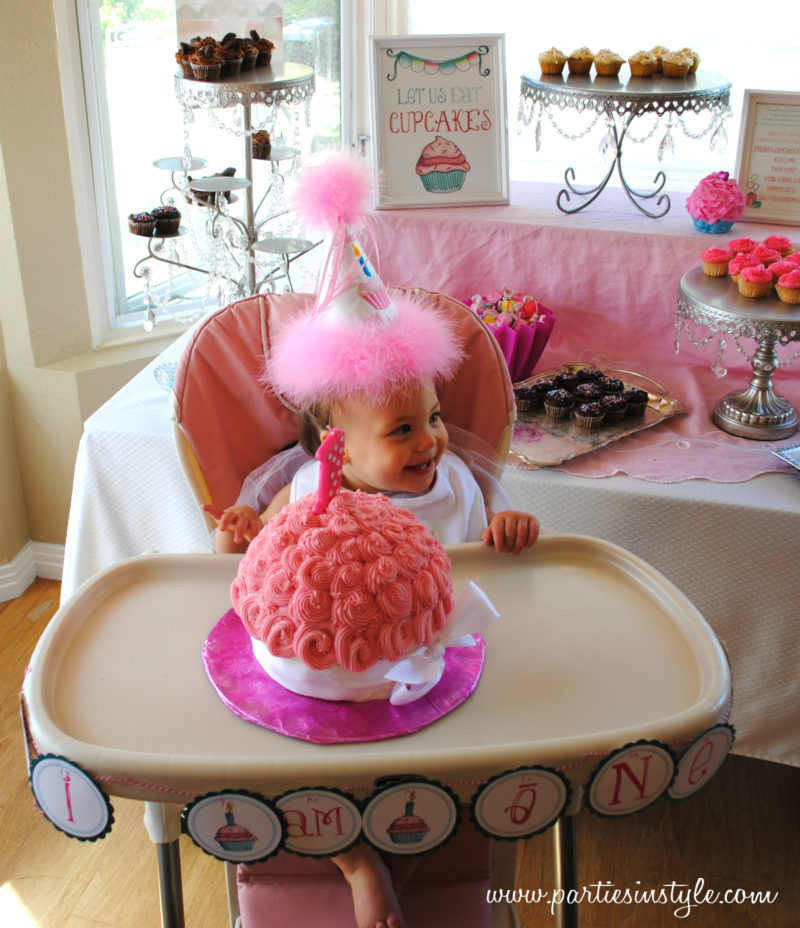 Sweet Shoppe Cupcake 1st Birthday Party Made by A Princess