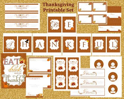 Thanksgiving Printable Set 2500 Fan Giveaway