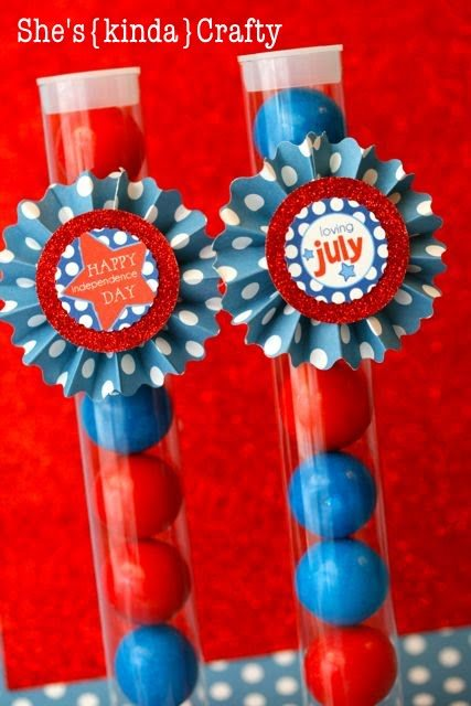 4th of july gumball favors