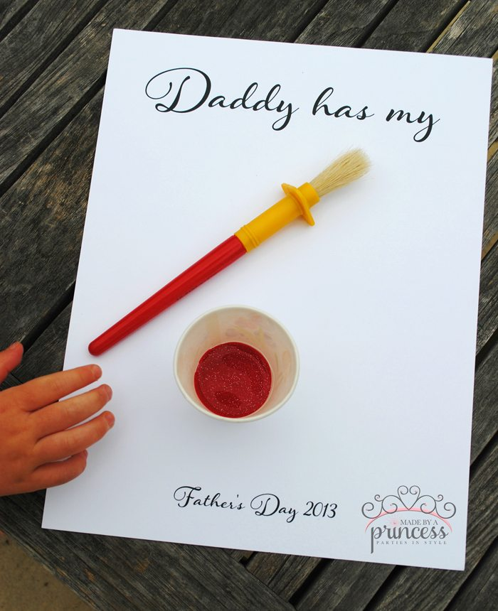 fathers day craft daddy has my heart step1
