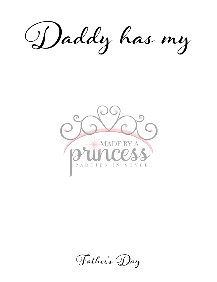 fathers day free printable daddy has my heart