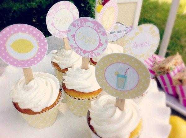 Lemonade Stand Cupcake Toppers