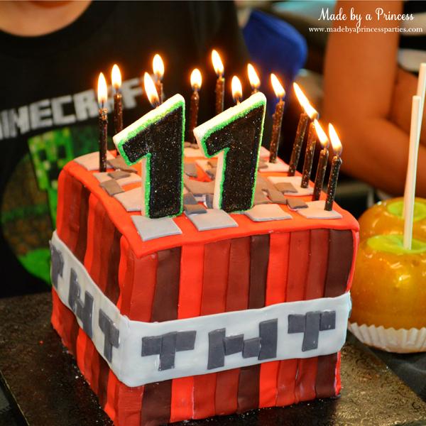 Ultimate Minecraft Birthday Party TNT birthday cake perfect for Minecraft party #minecraft #minecraftparty #minecraftbirthday