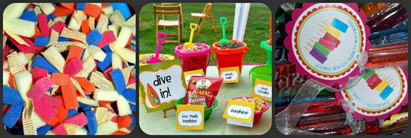 summer fun buffet and games