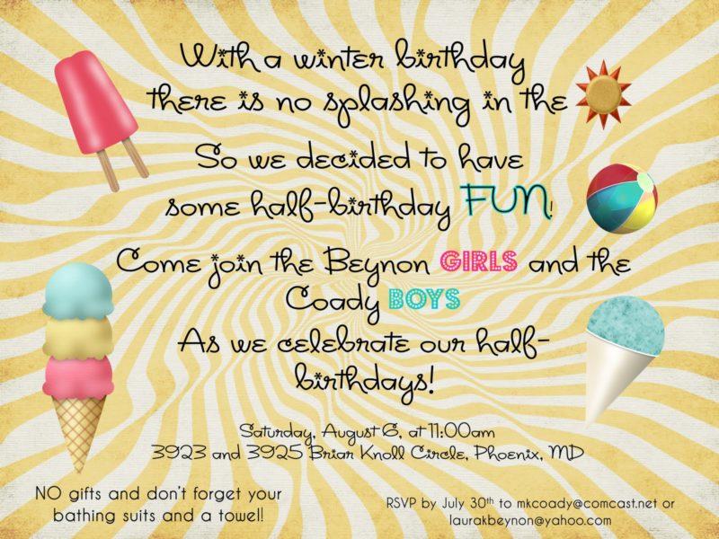 summer fun invite