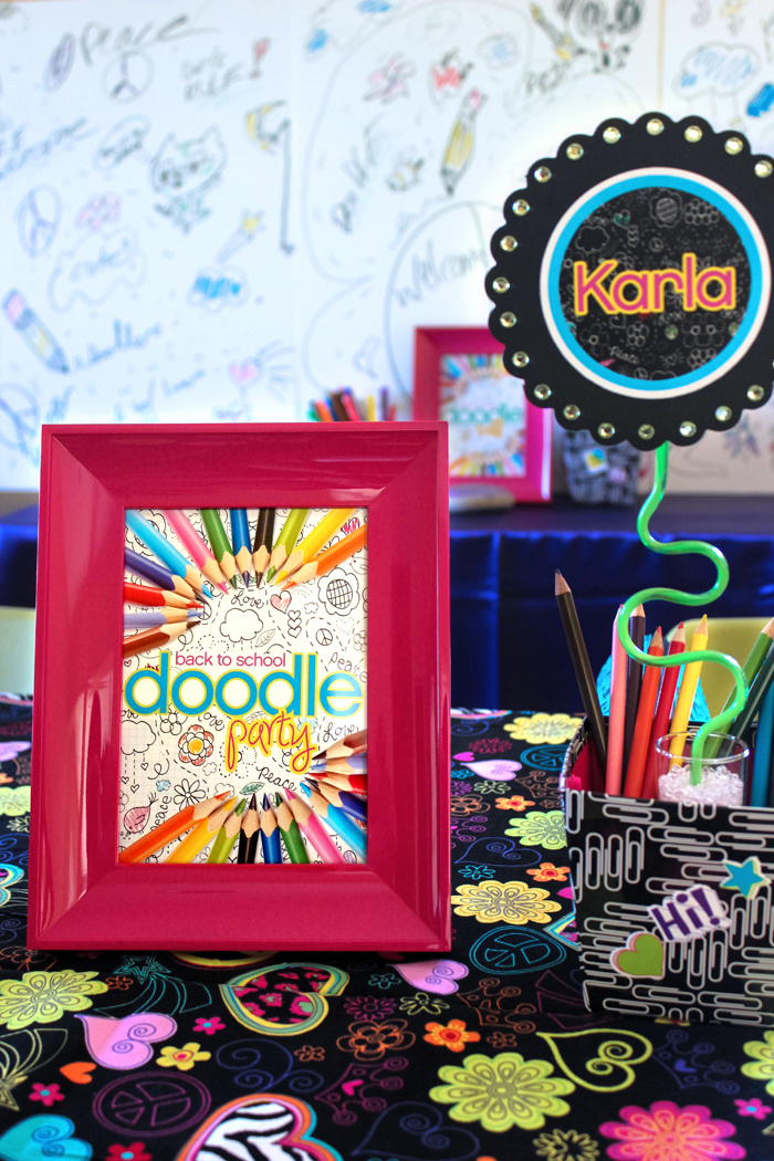 Back to School Doodle Party