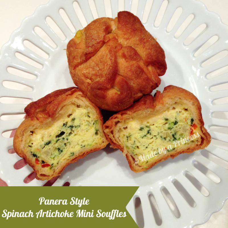 copycat panera spinach artichoke souffles