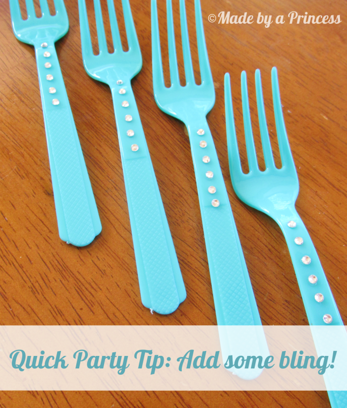 Quick Party Tip Bling Your Plasticware