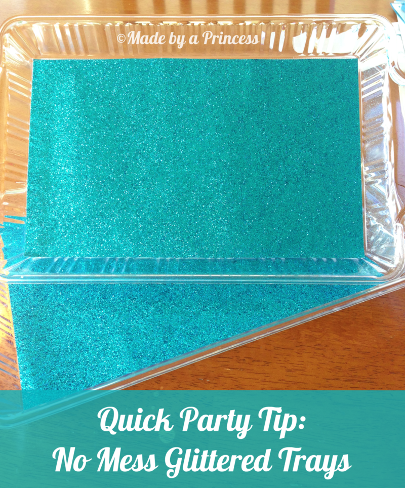No Mess Glitter Tray