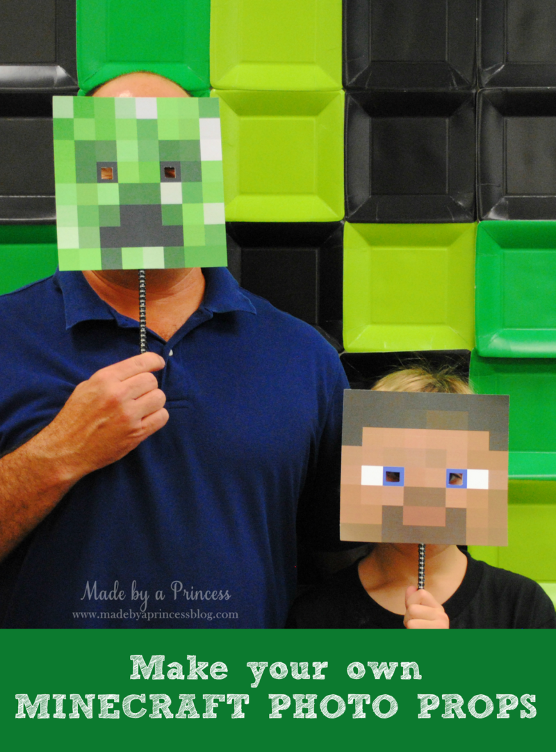 Make Your Own Minecraft Photo Props + FREE Downloads