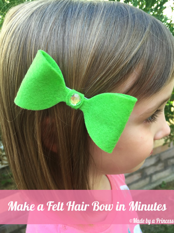 Make a Felt Hair Bow in Minutes