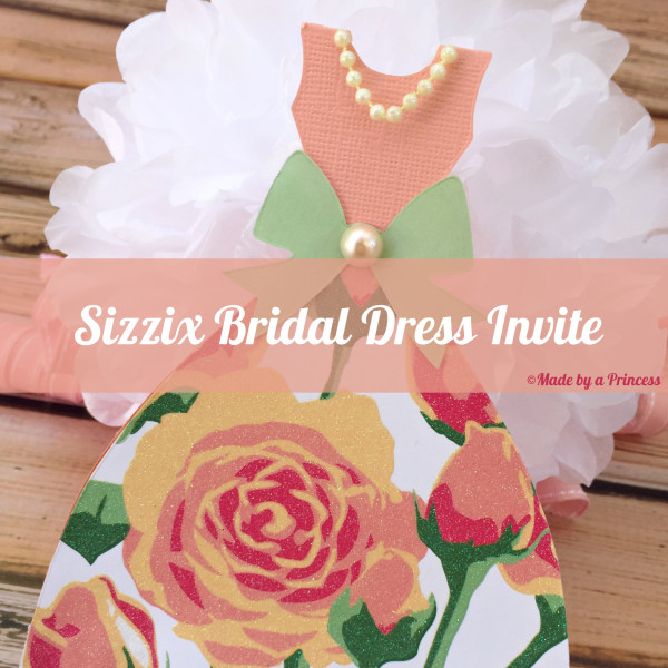 sizzix princess dress tutorial2