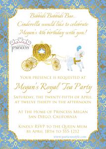 cinderella movie invitation