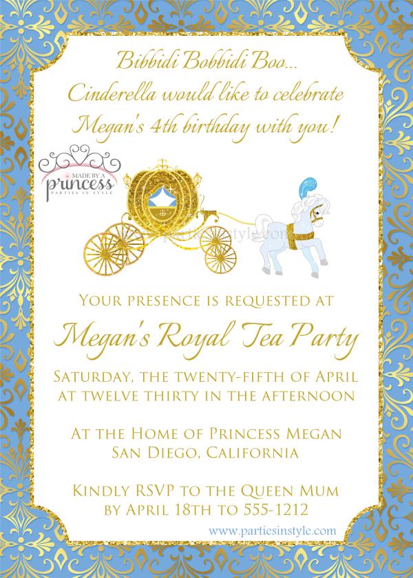 Princess Cinderella Party Will Leave You Enchanted cinderella movie invitation