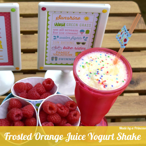 Frosted Orange Juice Yogurt Shake