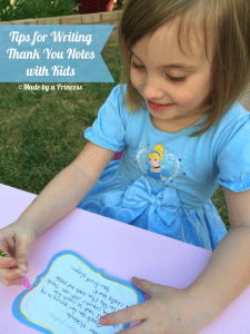 Writing Thank You Notes With Kids