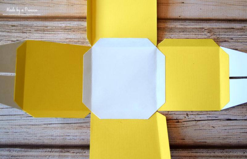 sizzix cupcake box glue sides together