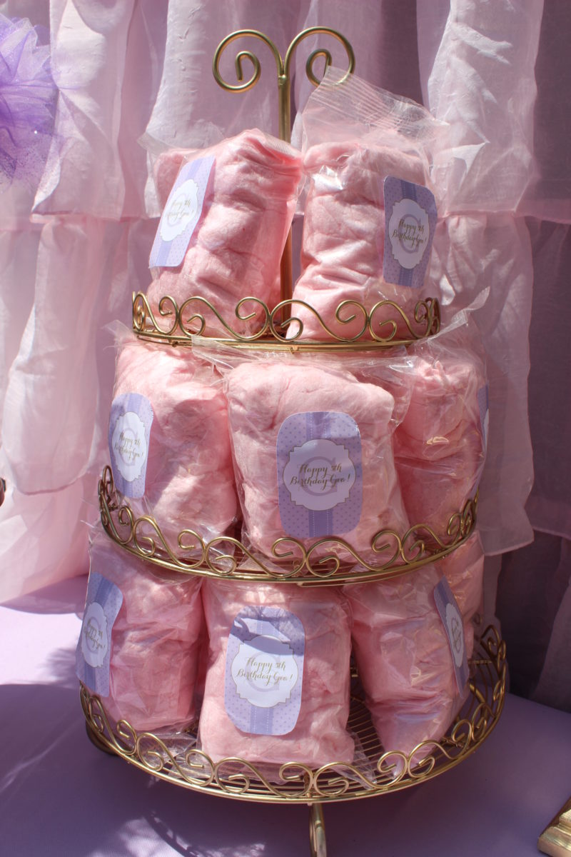 best day ever rapunzel party by tabletop treats cotton candy