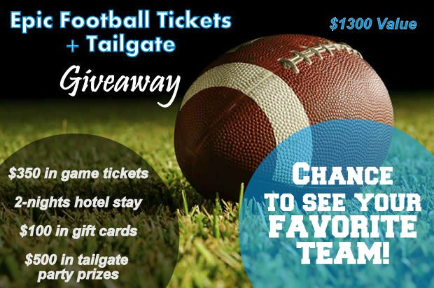 Epic Football Ticket + Tailgate Giveaway