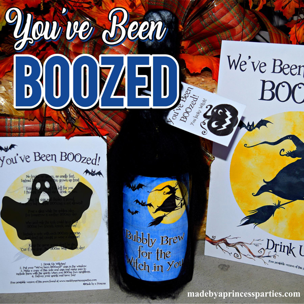 Youve Been BOOzed is a Fun Neighborhood Game for the adults to play this Halloween #boozegame #halloweenneighborhoodgame