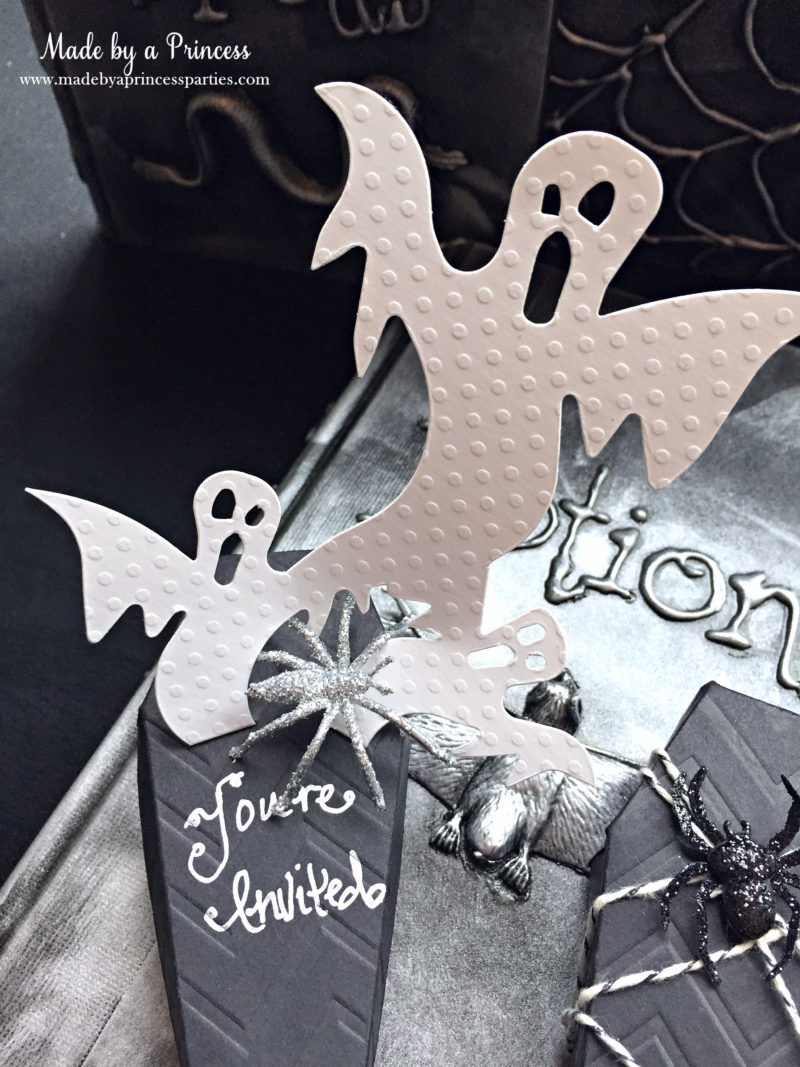 Spooky Halloween Coffin Invitations