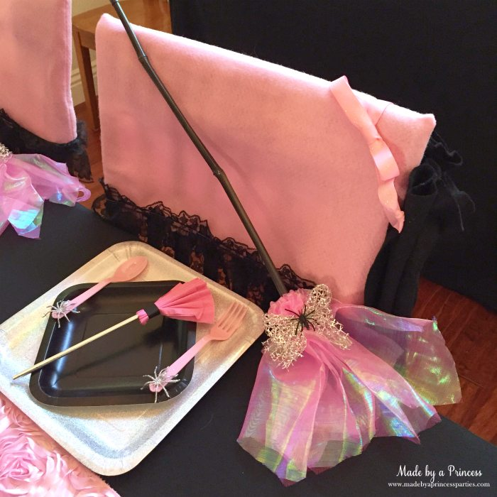 witch tea party broom