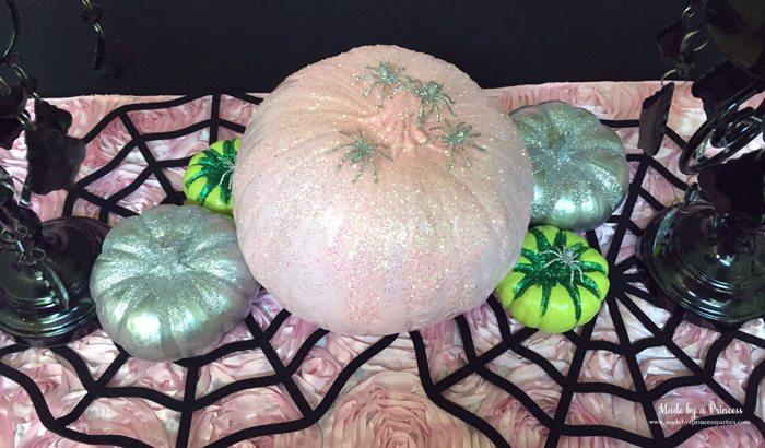 witch tea party glitter pumpkins