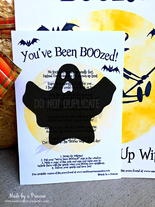 graphic about You've Been Boozed Printable identify Youve Been BOOzed Speculate Your Neighbors - Built via a Princess