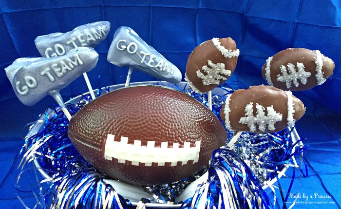 OREO cookie balls footballs and pennants