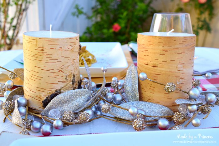 creamy pumpkin chicken pasta birch candles 2