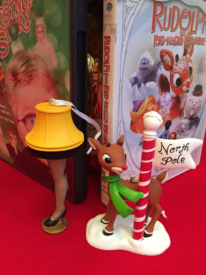 hallmark in walmart rudolf and christmas story ornaments