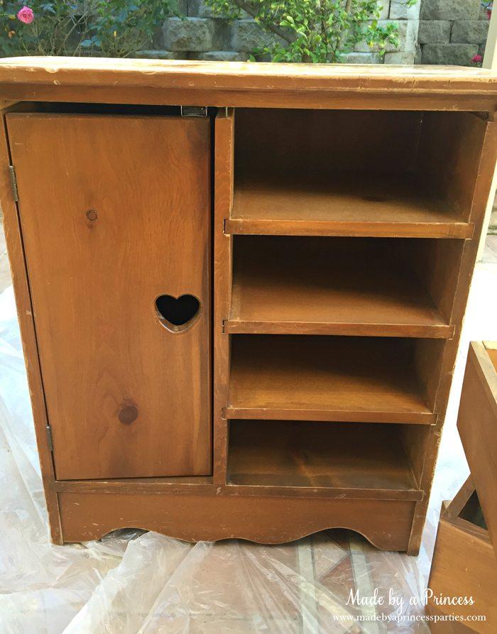 antique cabinet pink pearl makeover inside