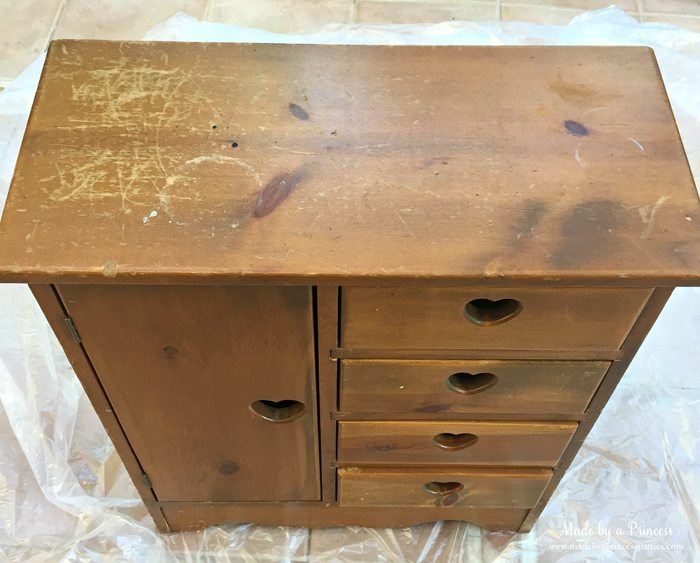 antique cabinet pink pearl makeover top