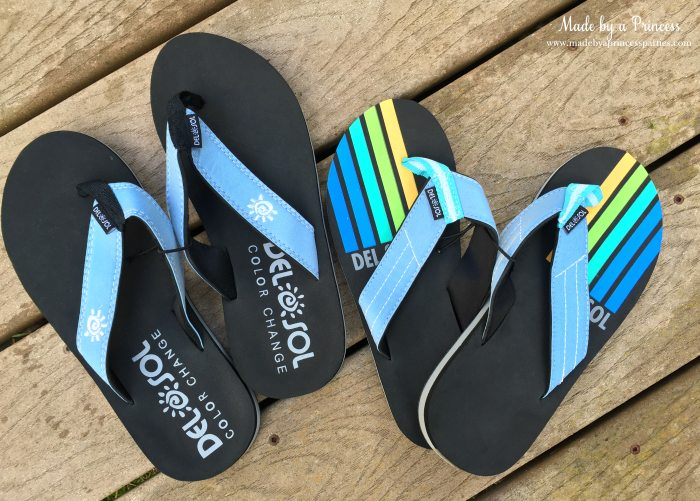 del sol color changing flip flops