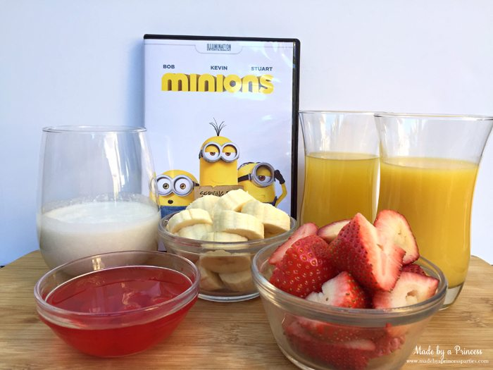 minions movie night lava mocktail supplies