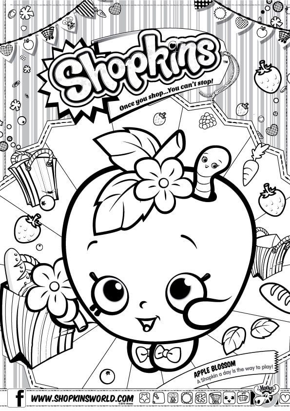 Shopkins Coloring Pages Season 1 - Made by a Princess