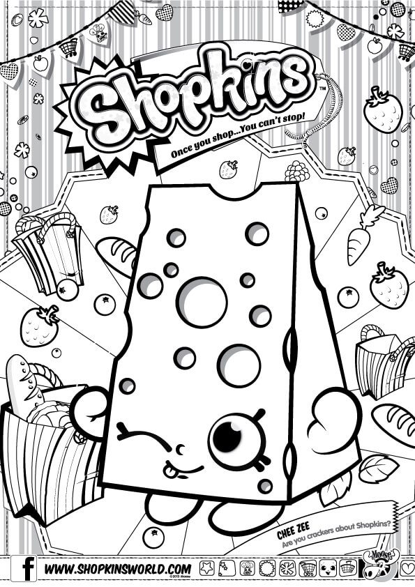 Shopkins Coloring Pages Season 1 Made by a Princess