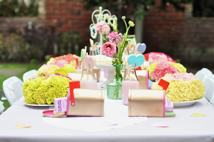 Valentines Day Garden Party guest table