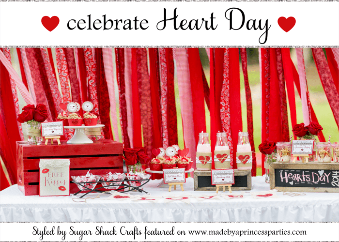 celebrate heart day party styled by sugar shack crafts