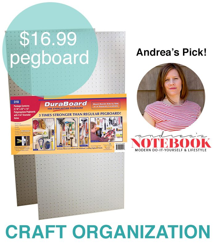 Use pegboards to organize your crafts!