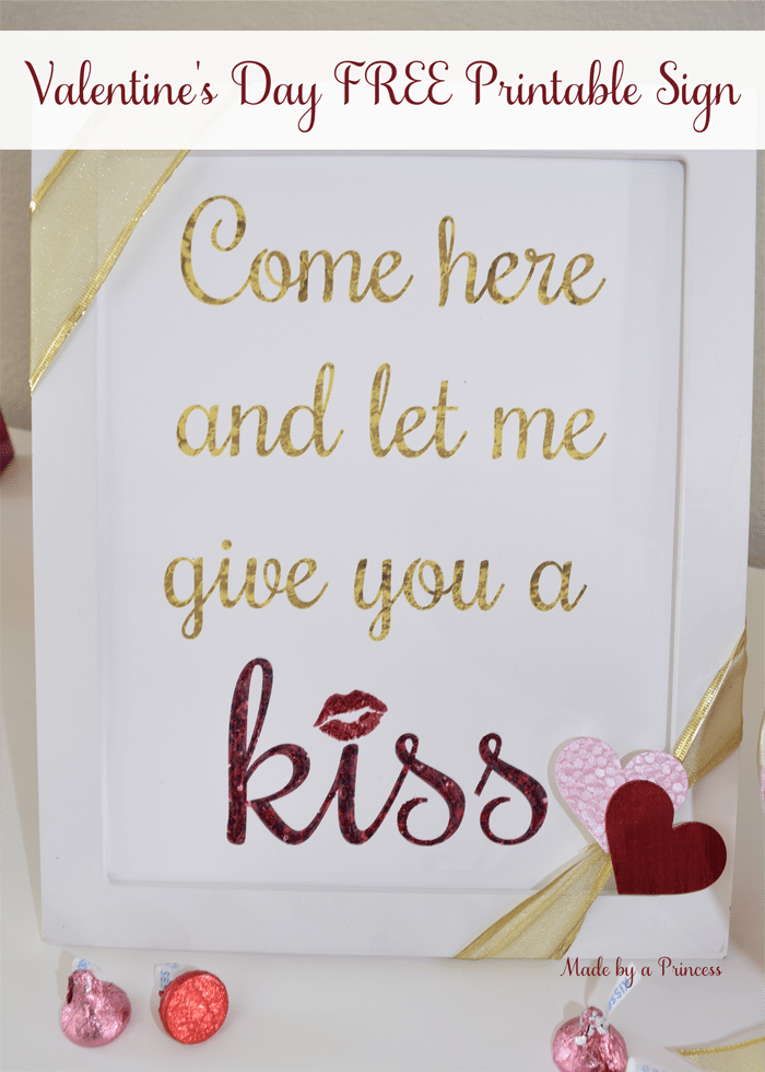 valentines day give me a kiss free printable