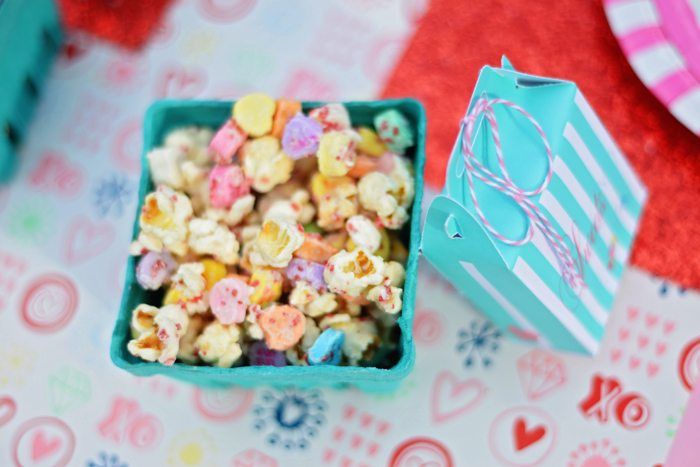 Creative Kids Valentine Party Ideas popcorn