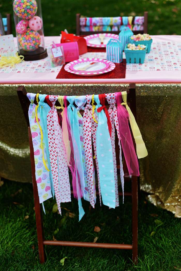Creative Kids Valentine Party Ideas ribbon ties