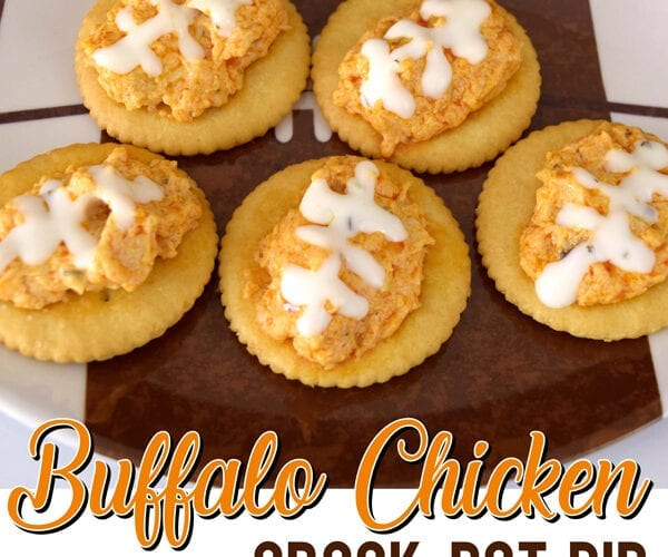 Crock Pot Cheesy Buffalo Chicken Dip Recipe