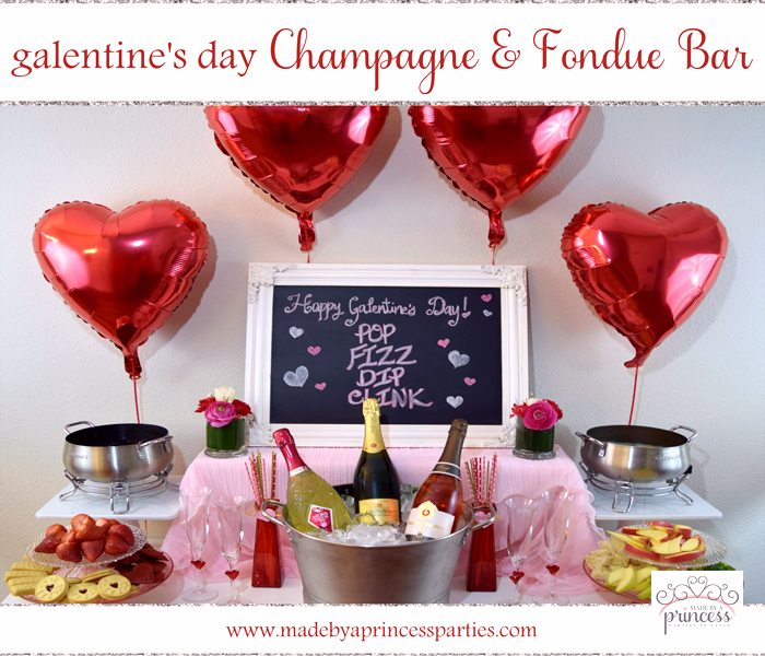Champagne Fondue Galentines Day Bar