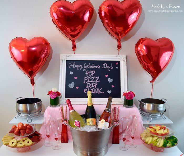galentines day champagne fondue buffet wm