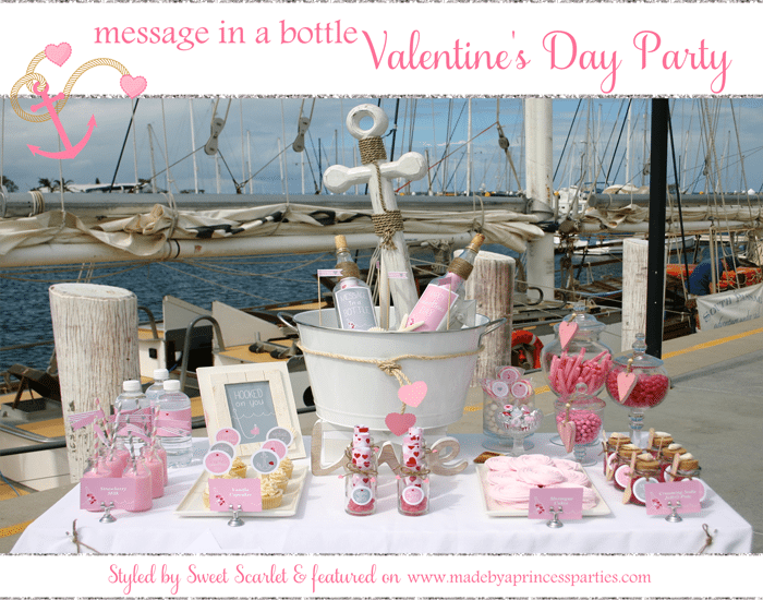 Message in a Bottle Valentines Party