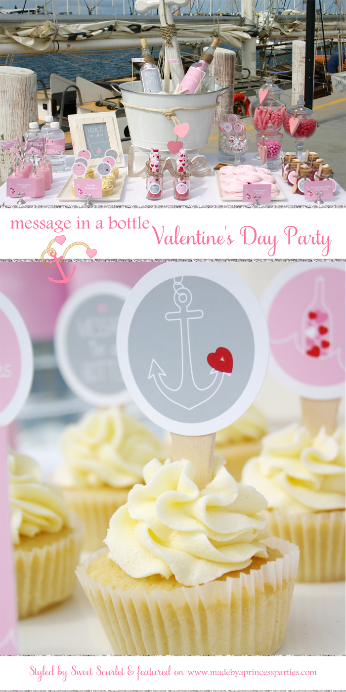 message in a bottle valentine party pin it