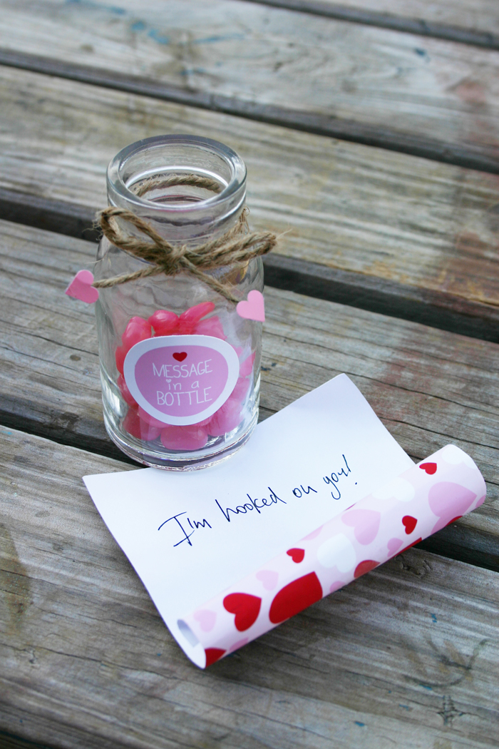 message in a bottle valentines party jelly beans in a bottle